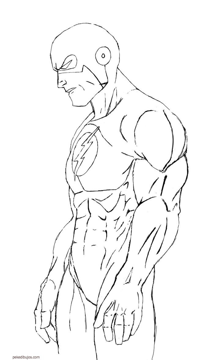 jay garrick flash coloring pages - photo#17