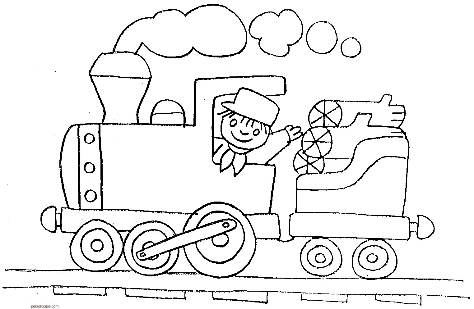 Contemporáneo Tren Imprimible Gratis Para Colorear Ideas - Dibujos ...