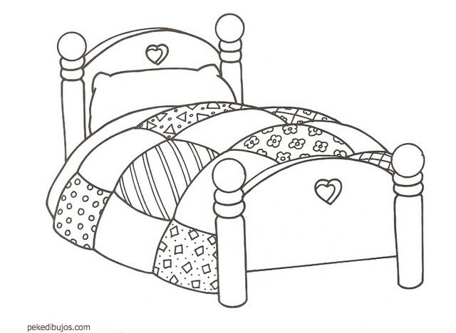 coloring pages of beds - photo#15