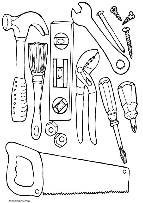 free screwdriver coloring pages - photo#21